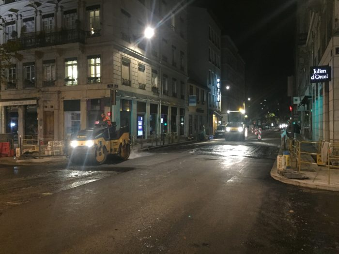 Photo du chantier pour la PPI Grand Lyon réalisé par la SEEM, appartenant à Martel Groupe