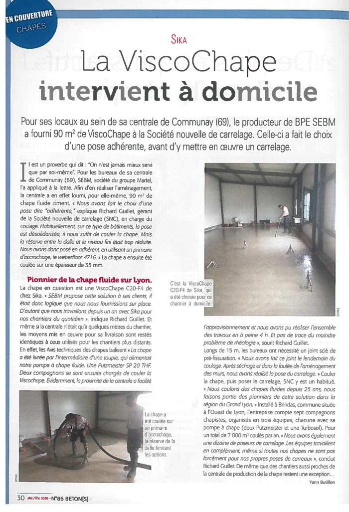Article sur la ViscoChape