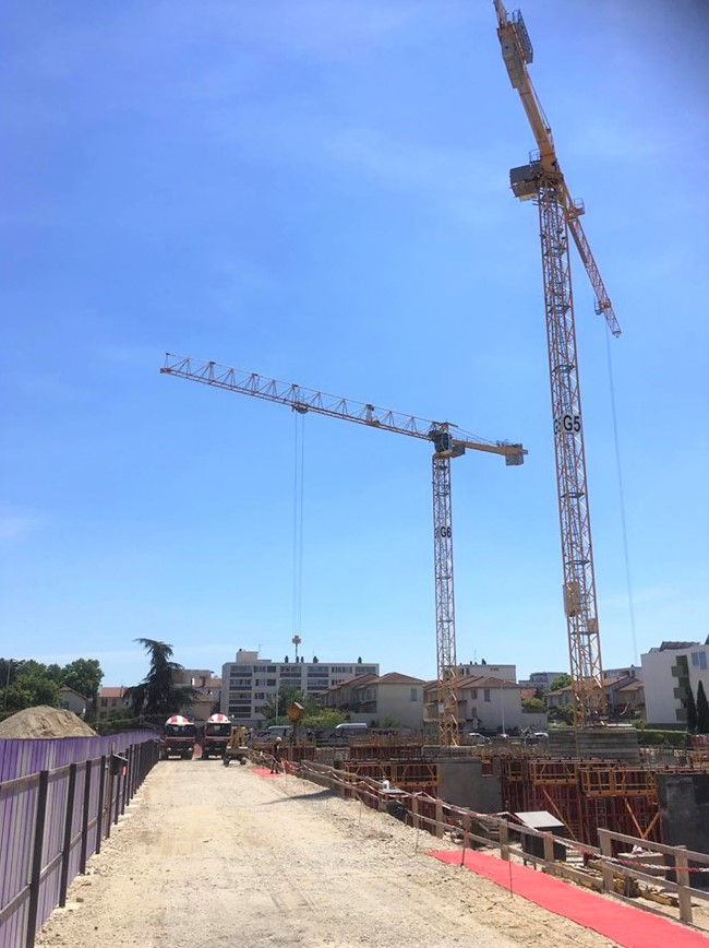 Photo du chantier situé à Lyon 8
